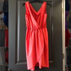 Red/orange dress